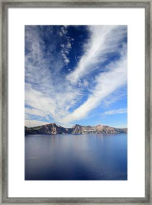 Crater Lake Sky Framed Print by Pierre Leclerc Photography