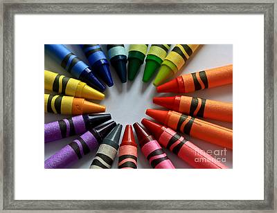 Crayola Color Framed Print by Tracy  Hall