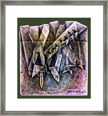 Crayolacomp B 1985 Framed Print by Glenn Bautista