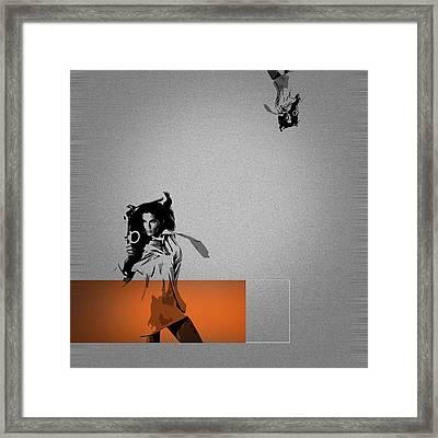 Craze Framed Print by Naxart Studio