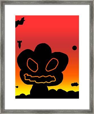 Crazy Bomb Silhouette Framed Print by Jera Sky