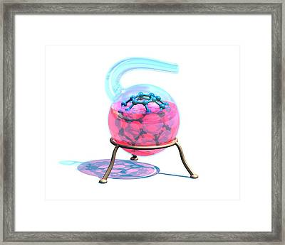 Creating A Buckyball Molecule Framed Print by Laguna Design