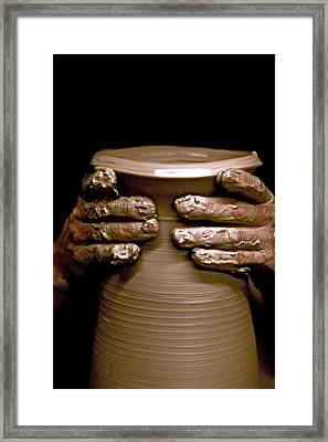 Creation At The Potter's Wheel Framed Print by Rob Travis