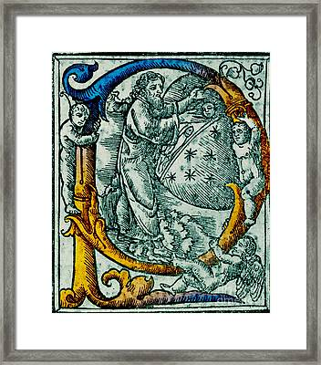 Creation Giunta Pontificale 1520 Framed Print by Science Source
