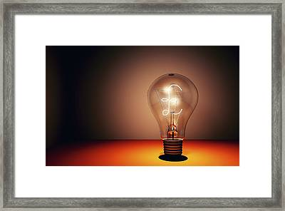 Creativity, Conceptual Image Framed Print by Equinox Graphics