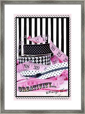Creativity Inspirational Juvenile Licensing Art Framed Print by Anahi DeCanio