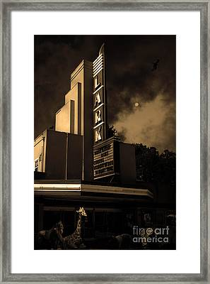 Creature Feature At The Lark - Larkspur California - 5d18484 - Sepia Framed Print by Wingsdomain Art and Photography