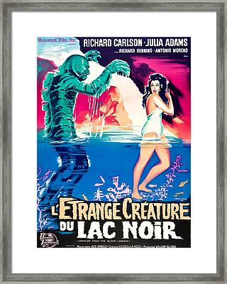 Creature From The Black Lagoon, On Left Framed Print by Everett