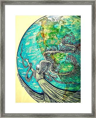 Creatures Can Understand And Absorb Framed Print by Paulo Zerbato
