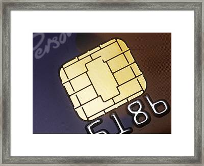 Credit Card Smart Card Framed Print by Steve Horrell