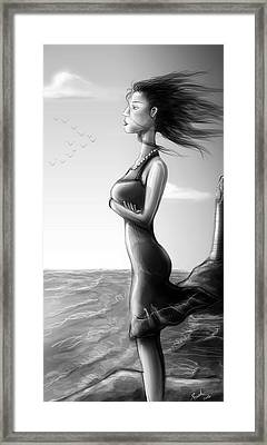 Crepuscolo Sul Mare Framed Print by Sasank Gopinathan