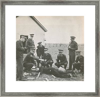 Crime Scene Framed Print by Photo Researchers
