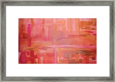 Crimson Sky Framed Print by Derya  Aktas