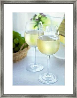 Crisp Whites Framed Print by Elaine Plesser