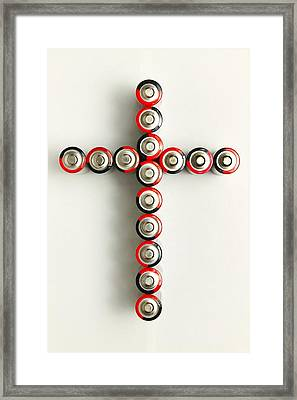 Cross Batteries 1 A Framed Print by John Brueske