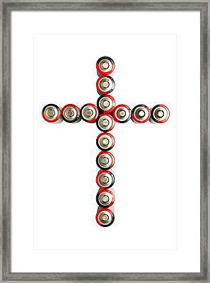 Cross Batteries 1 B Framed Print by John Brueske