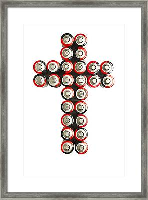 Cross Batteries 2 Framed Print by John Brueske