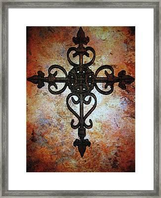 Cross Framed Print by Cindy Edwards