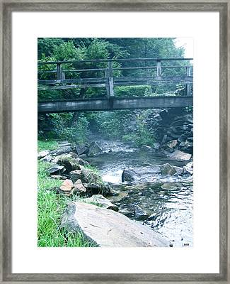 Cross The Stream Framed Print by Debra     Vatalaro
