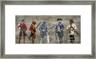 Crossed Paths French And Indian War Framed Print by Randy Steele