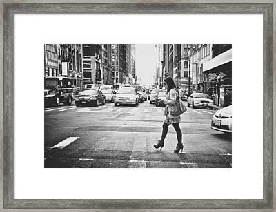 Crossing Framed Print by Chris Gachot