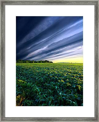 Crossing Over Framed Print by Phil Koch
