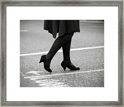 Crossing Road Framed Print by Marcio Faustino