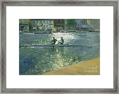 Crossing The Light Break - Henley Framed Print by Timothy Easton
