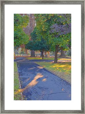 Crossroad Framed Print by Toshihide Takekoshi