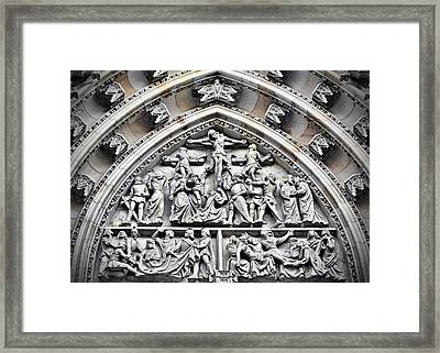 Crucified Christ - Saint Vitus Cathedral Prague Castle Framed Print by Christine Till