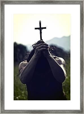 Crucifix Framed Print by Joana Kruse
