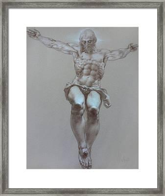 Crucifixion Framed Print by Valeriy Mavlo