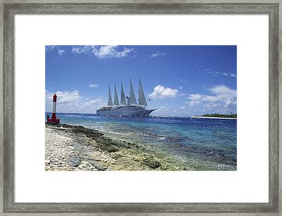 Cruise Ship Framed Print by Alexis Rosenfeld