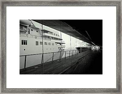 Cruise Ships Framed Print by Dean Harte