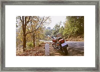 Cruiser In Autumn Framed Print by Kantilal Patel