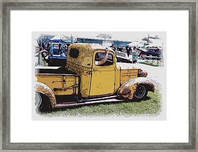 Cruising The Old Chevy Framed Print by Steve McKinzie