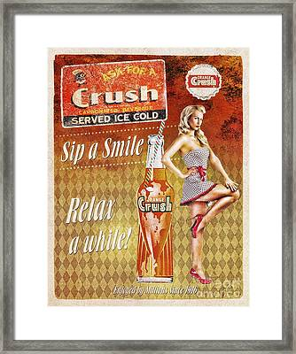 Crush Framed Print by Mo T
