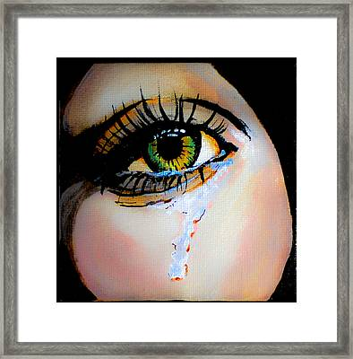 Crying Eye 2 Framed Print by Chris  Leon