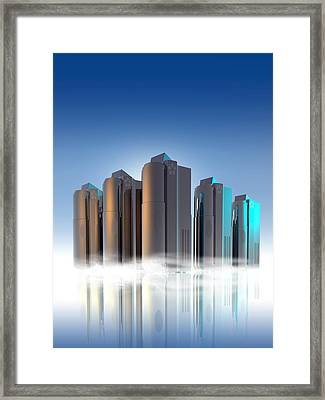 Cryogenic Freezers, Artwork Framed Print by Victor Habbick Visions