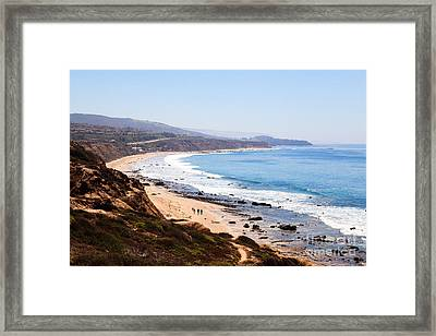 Crystal Cove Orange County California Framed Print by Paul Velgos