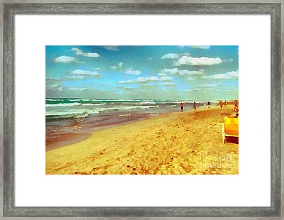 Cuba Beach Framed Print by Odon Czintos
