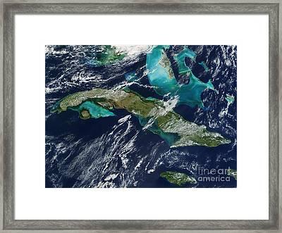 Cuba Framed Print by NASA / Science Source