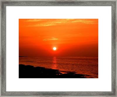 Cuban Sunset Framed Print by Jonathan Lagace