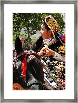 Cuenca Kids 113 Framed Print by Al Bourassa