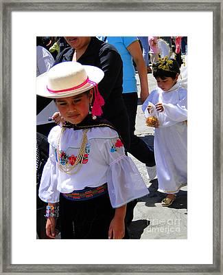 Cuenca Kids 117 Framed Print by Al Bourassa