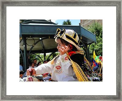 Cuenca Kids 120 Framed Print by Al Bourassa
