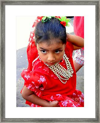 Cuenca Kids 161 Framed Print by Al Bourassa