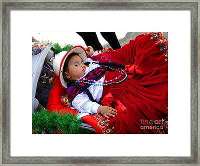 Cuenca Kids 175 Framed Print by Al Bourassa