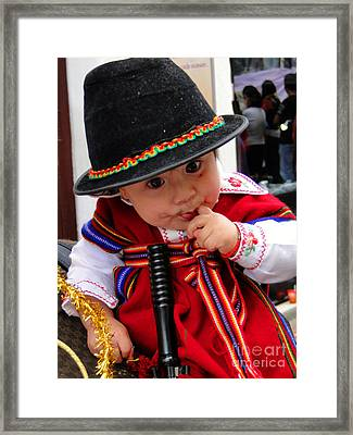 Cuenca Kids 19 Framed Print by Al Bourassa