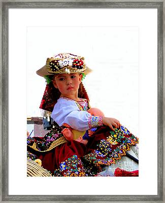 Cuenca Kids 193 Framed Print by Al Bourassa